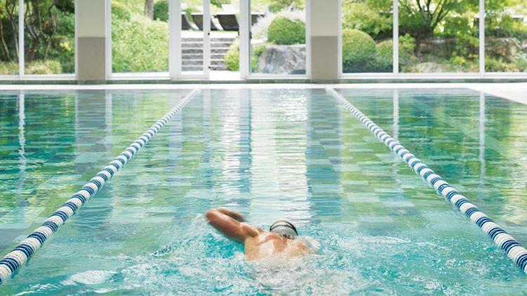 Swimming Pool at the Aspria Hotel Royal La Rasante in Brussels