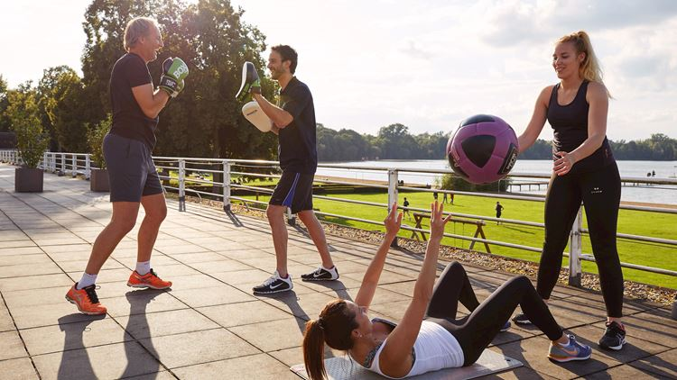 Aspria Hannover Maschsee Outdoor Fitness-Training