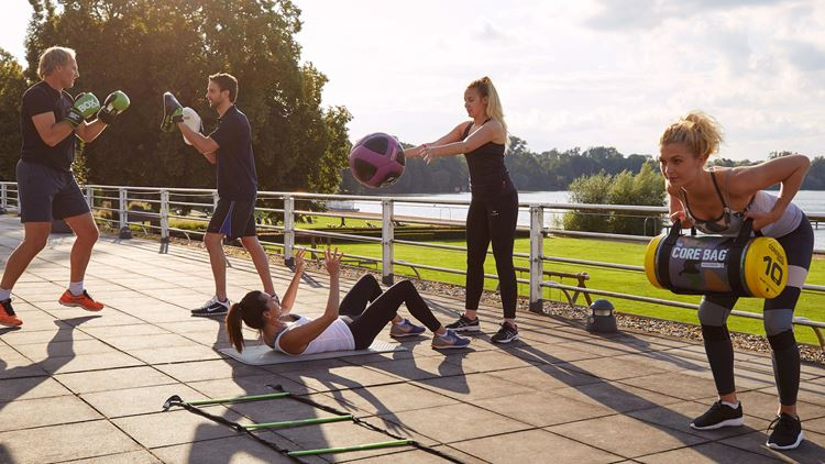 Outdoor Functional Training bei Aspria Hannover Maschsee