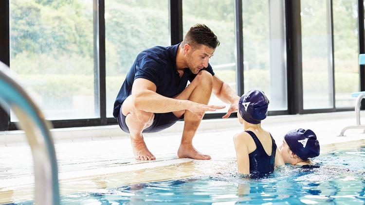 Les cours de natation à l'Aspria Royal La Rasante